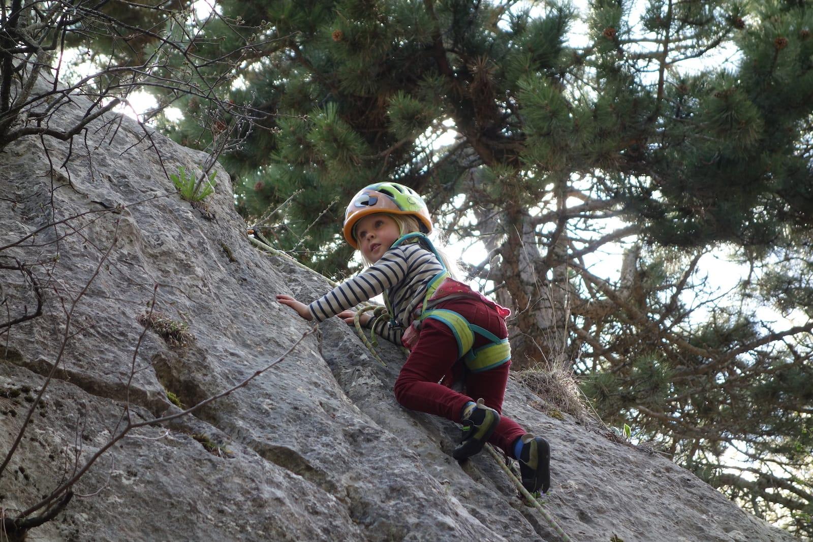Escalades variées pour parents et enfants, dès 3 ans<br><span id='secondary-title' style='font-size:28px;line-height:34px;color:#fff!important;font-weight:300;display:block;padding-top:34px;'>De l'escalad'arbre au rocher, découvrez l'activité escalade en famille - ludique et verticale</span>